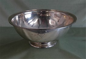 Arthur Stone Large Sterling Silver Bowl