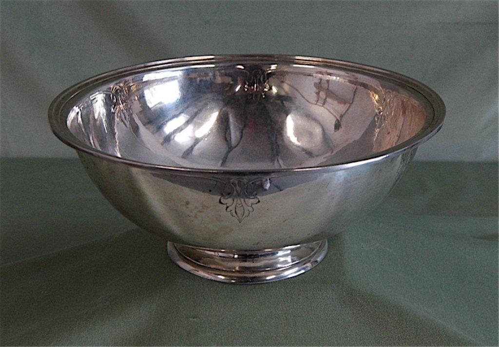 133: Arthur Stone Large Sterling Silver Bowl
