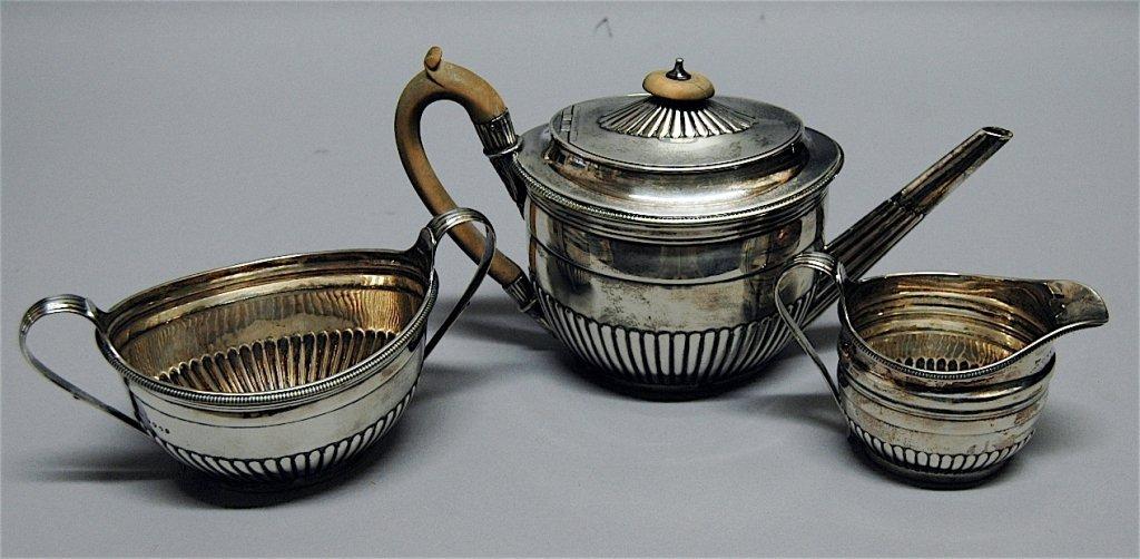 142: George III English Sterling Tea Set