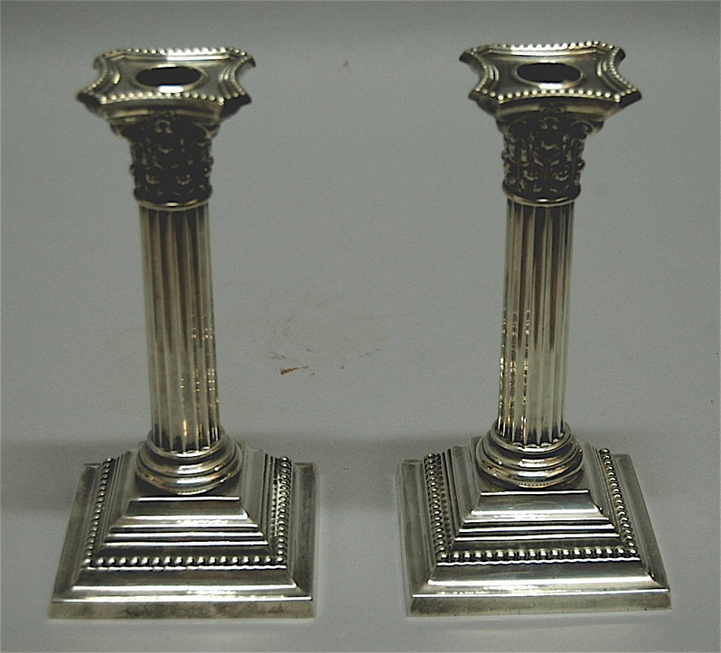 161: Pair of Gorham Sterling Candle Sticks