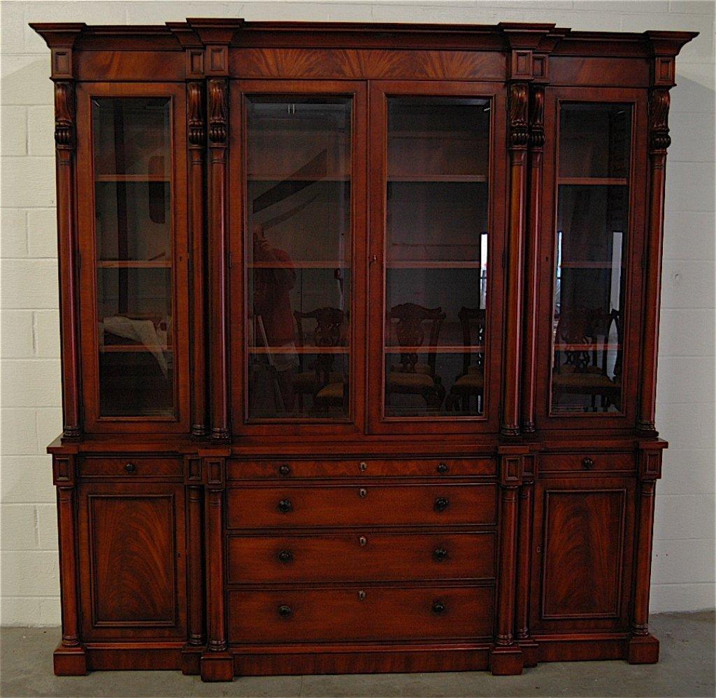 """henredon """"ralph lauren"""" mahogany china cabinet"""