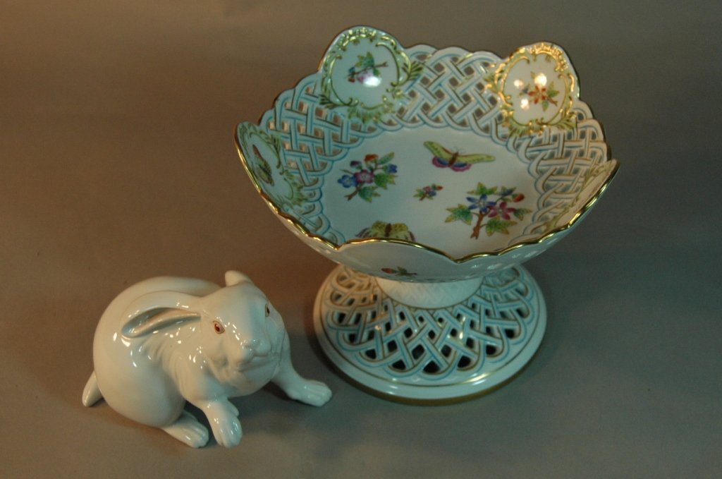 17: 2 Piece Herend Porcelain Group