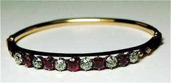 103 Ladys Diamond and Ruby Bracelet 14k