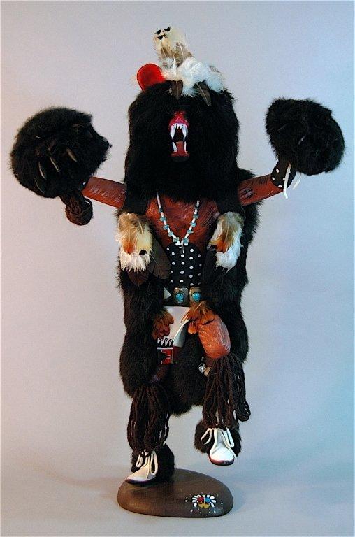 236: Black Bear Kachina Doll by Johnny Burgess