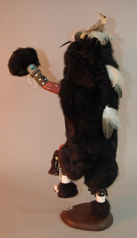 236: Black Bear Kachina Doll by Johnny Burgess - 3