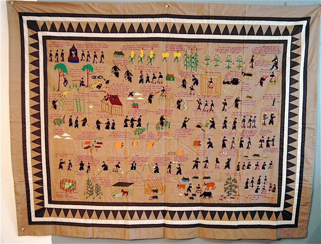 267: Hmong Children's Pictorial Quilt