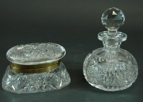 1: Libbey Cologne Bottle and Pitkin & Brooks Box