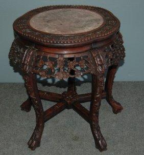 5: Chinese Teak Tabouret Table