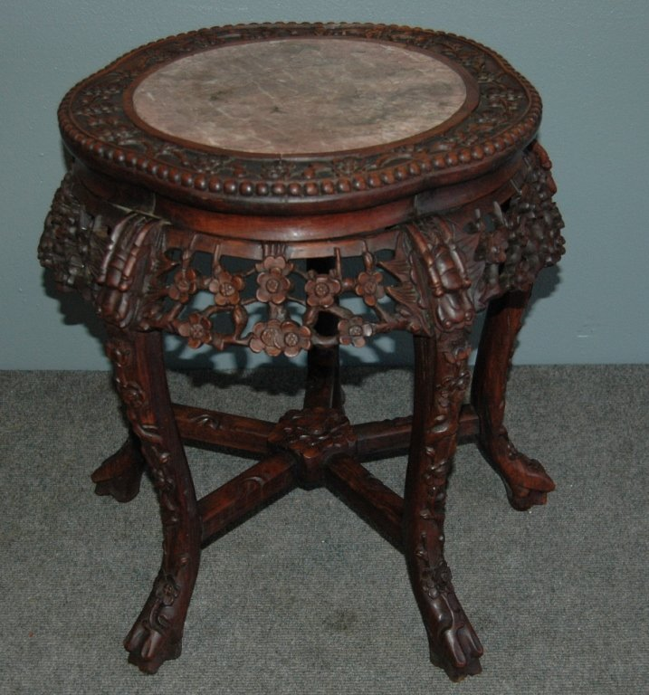 5: Chinese Teak Tabouret Table