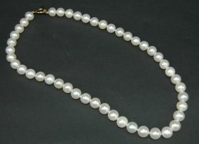 7: Cultured Pearl Necklace 8.-8.5 mm