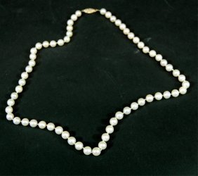 Strand Of Sweetheart Pearls