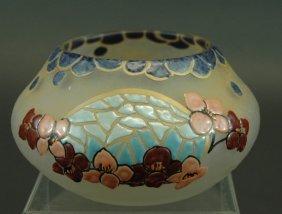 15: Legras French Cameo Art Glass Bowl