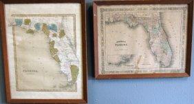 21: 2 Antique Maps of Florida