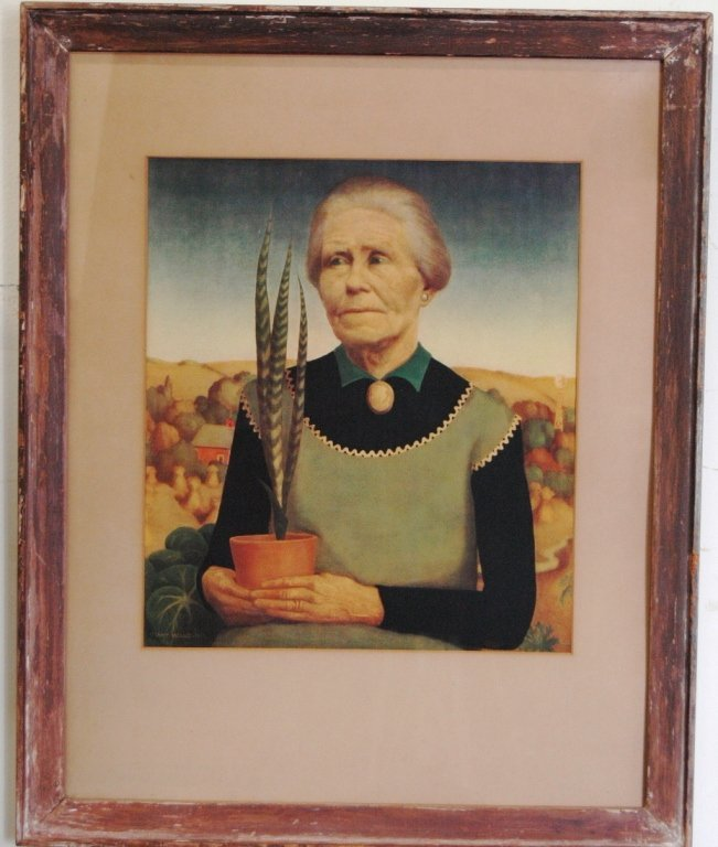 "145: Grant Wood (1892-1942) ""Woman with Plants"" - 4"