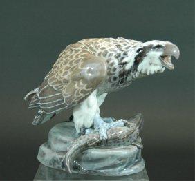 333: Dahl-Jensen Copenhagen Porcelain Falcon