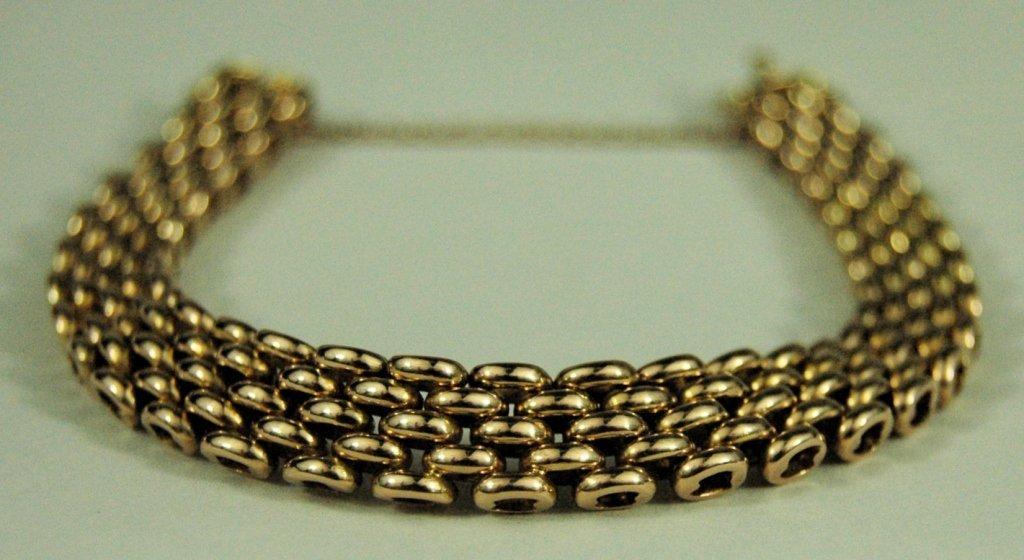 15K Yellow Gold Woven Bracelet