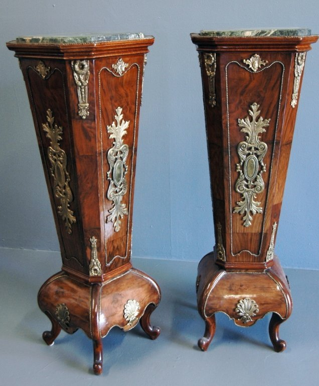 Pair of French Louis XVI Style Pedestals