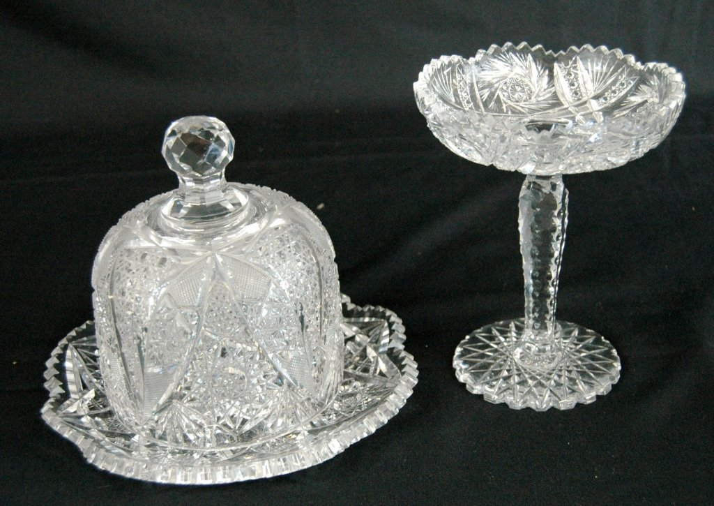 2 Brilliant Period Cut Glass