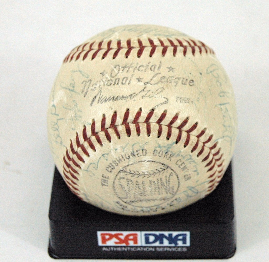 Milwaukee Braves Autographed Baseball 1958