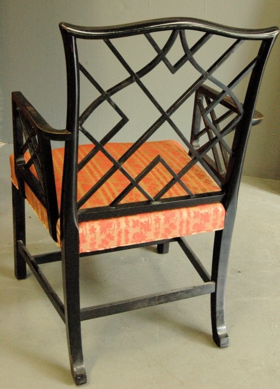 Chinese Chippendale Arm Chair - 4