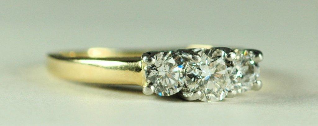 14K Gold & Platinum Diamond Ring