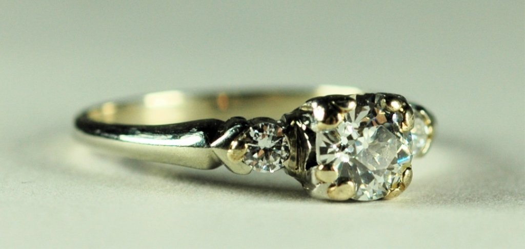 14K Gold Antique Diamond Ring