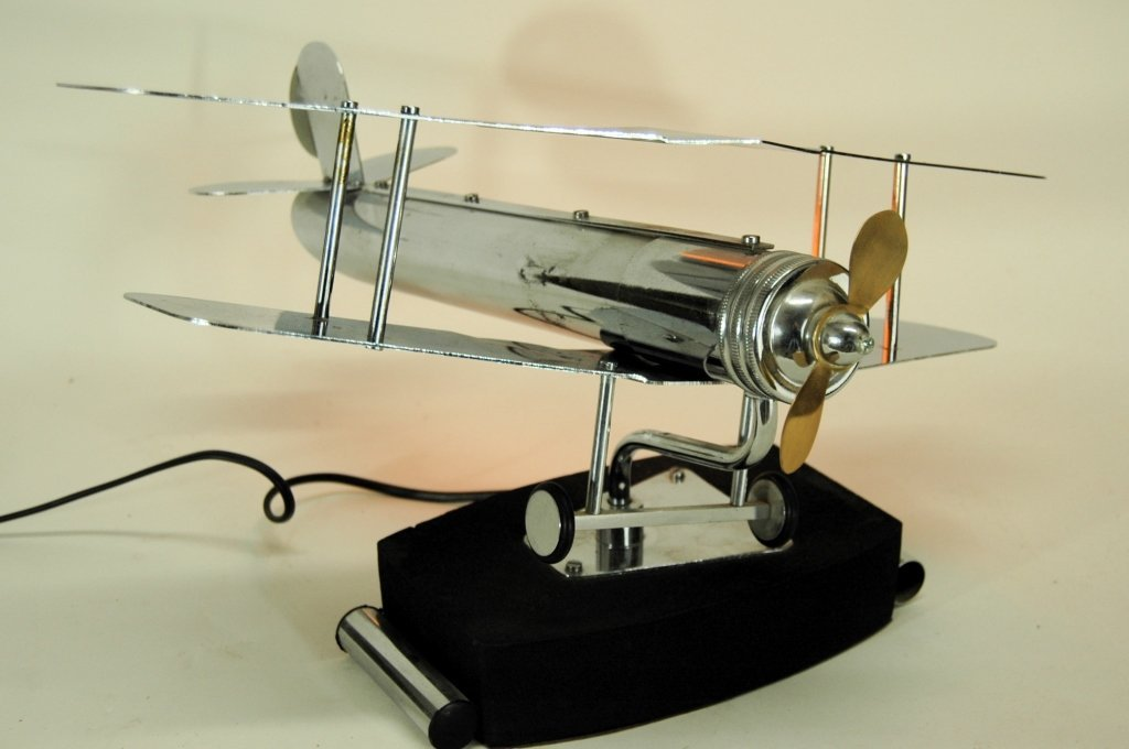 Chrome Model Airplane Lamp