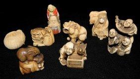 8 Carved Ivory Netsukes