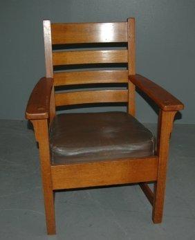 Limbert Arts And Crafts Arm Chair