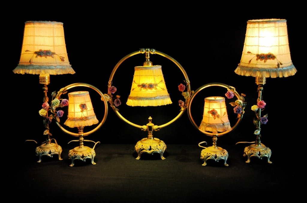 Set of 5 Boudoir Lamps