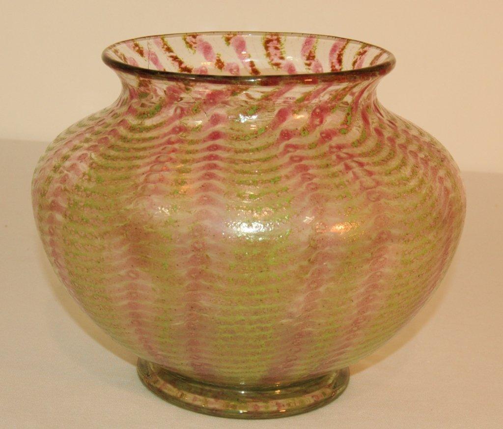 """Nash Art Glass """"Chintz"""" Vase"""