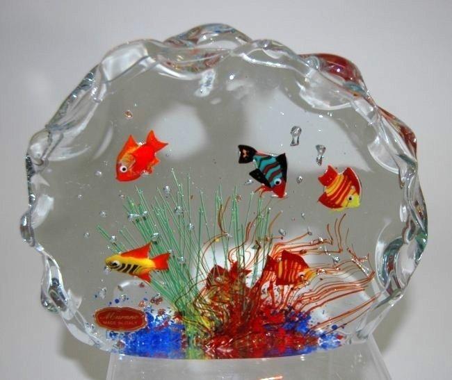 Murano Cenedese Aquarium Block