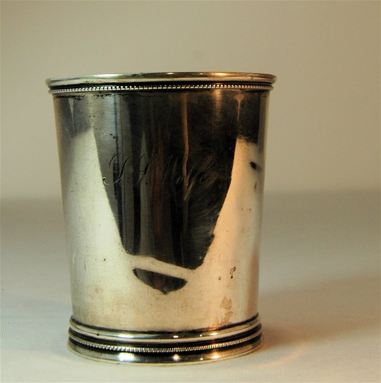 Wood & Hughes Coin Silver Julep Cup
