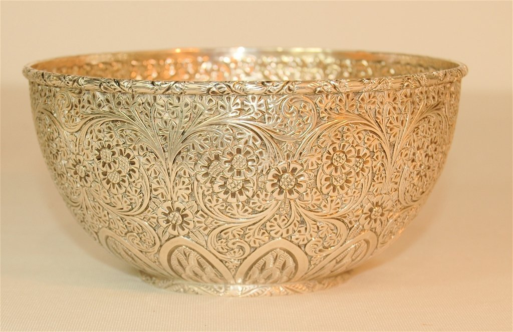 Whiting & Co. Chased Sterling Bowl