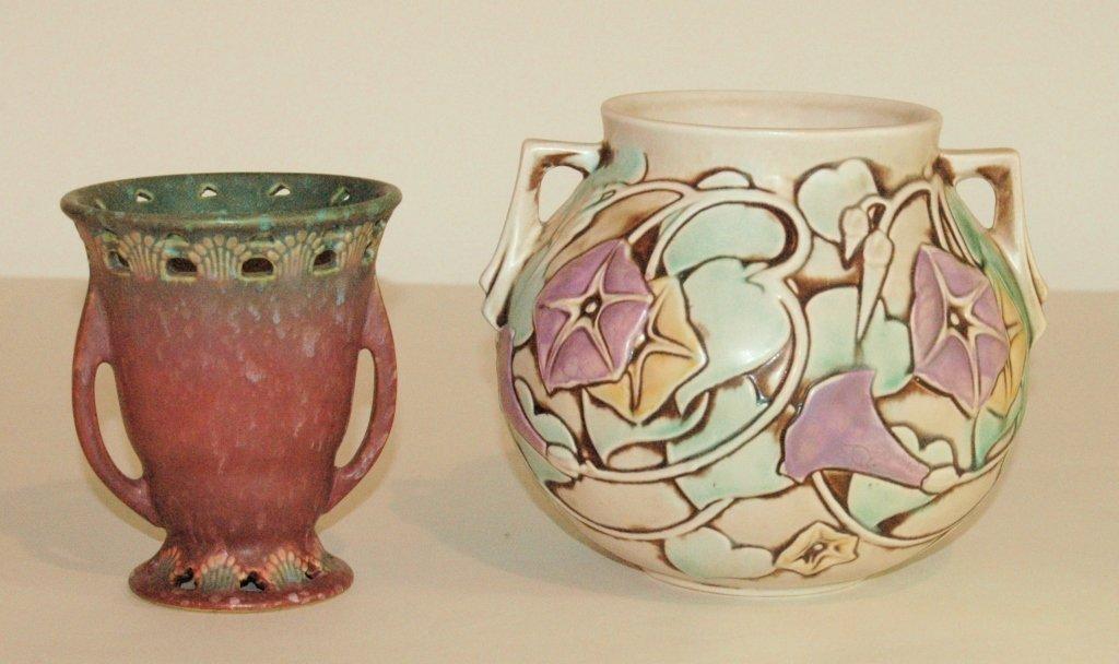 2 Piece Roseville Pottery