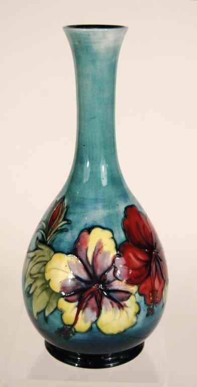 """Moorcroft Pottery Vase """"Hibiscus"""""""