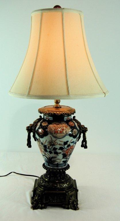 Dutch Imari Style Table Lamp