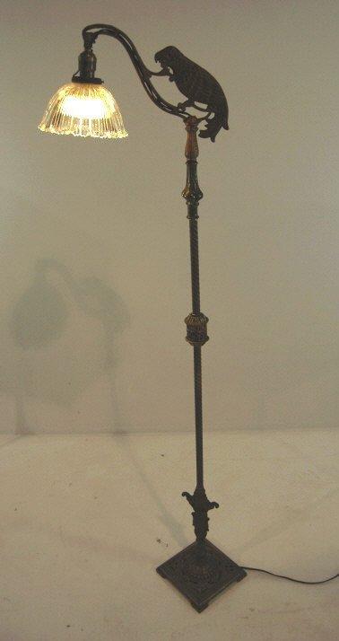 Onyx Cast Iron Parrot Floor Lamp