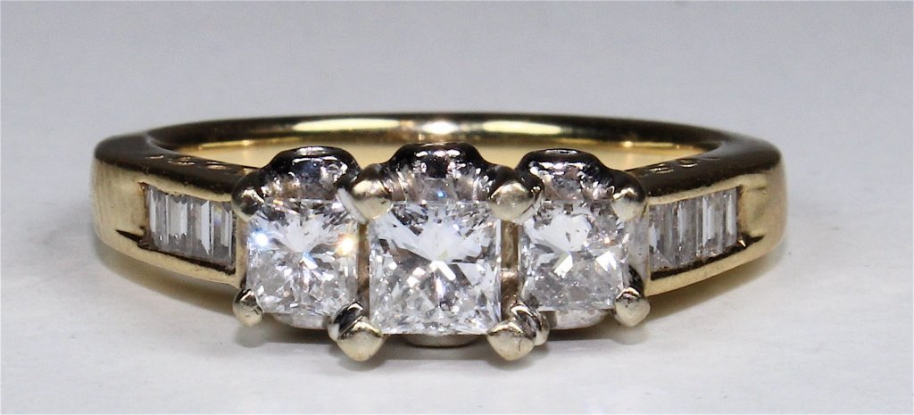 14K Princess Cut Diamond Ring