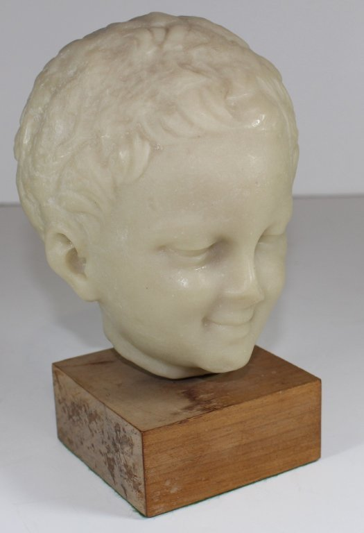 Marble Bust of Young Boy