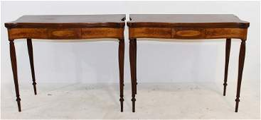 Pair of Sheraton Card Tables