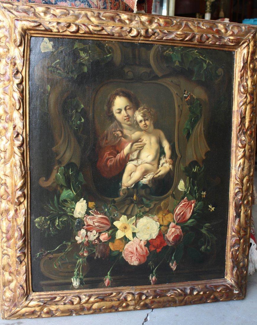 Madonna & Child Oil on Canvas