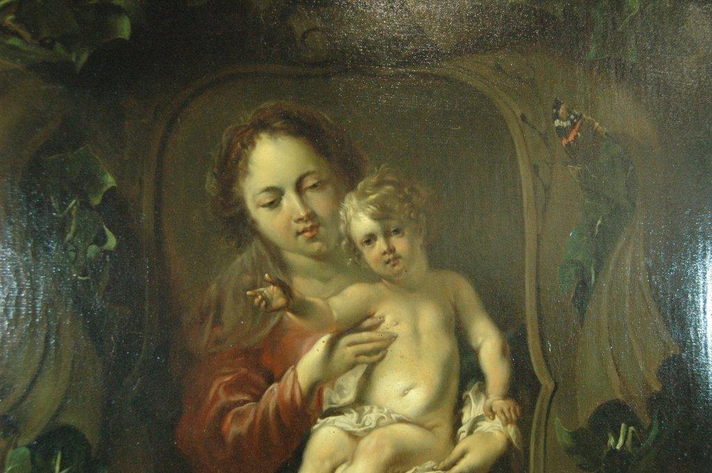Madonna & Child Oil on Canvas - 2