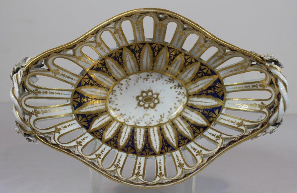 Fine Chamberlain Worcester Porcelain Basket