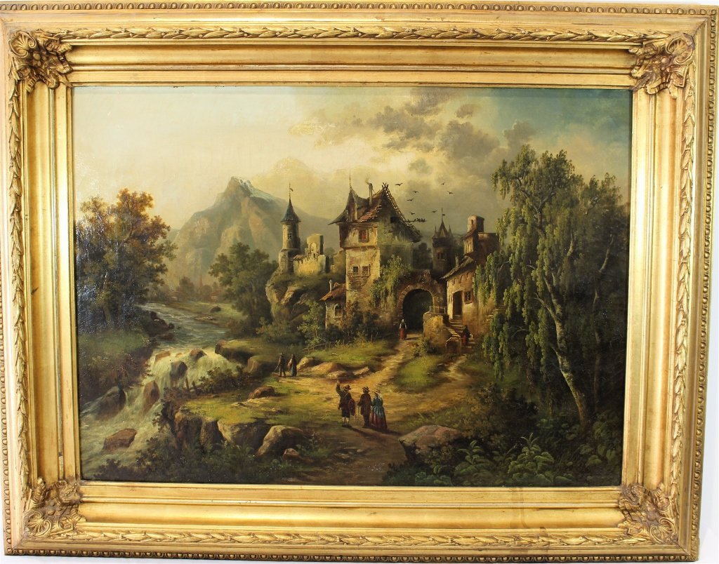19th Century German Oil on Canvas