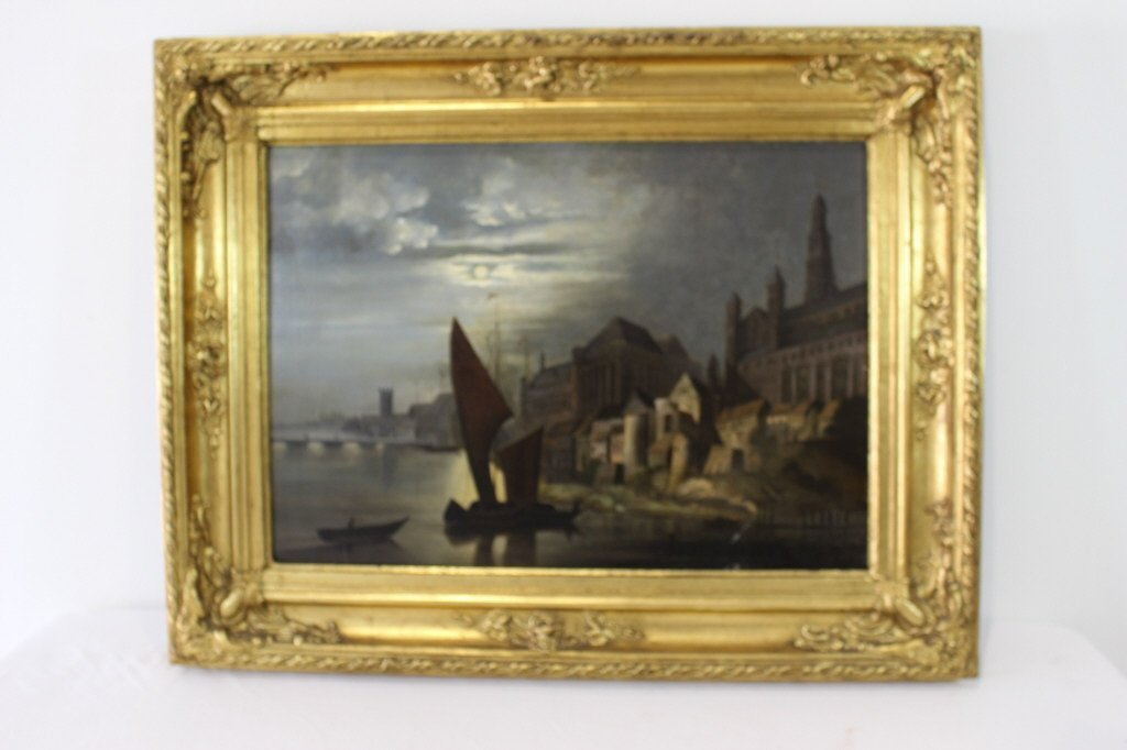 European Mid 19th Century Oil on Canvas
