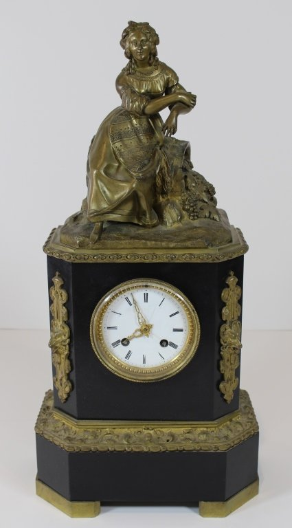 Vincente & Cie French Bronze Clock