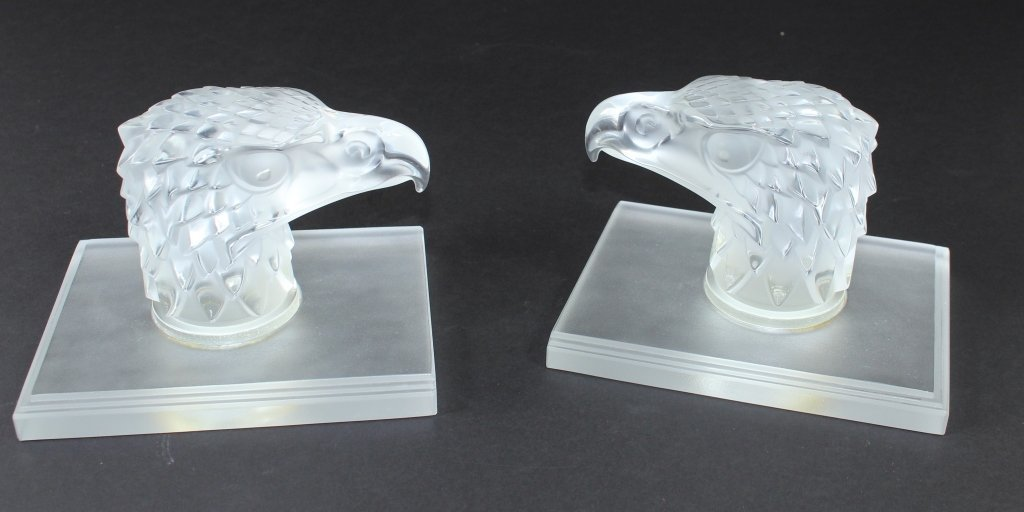 Pair of Lalique Bookends