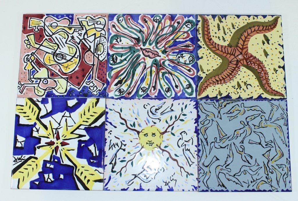 Set of 6 Salvador Dali Tiles