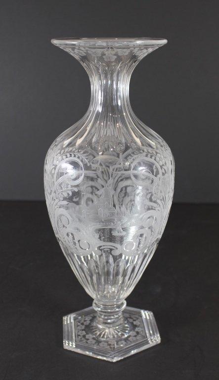 Libbey Intaglio Cut Vase